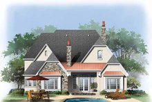 Cottage Exterior - Rear Elevation Plan #929-841