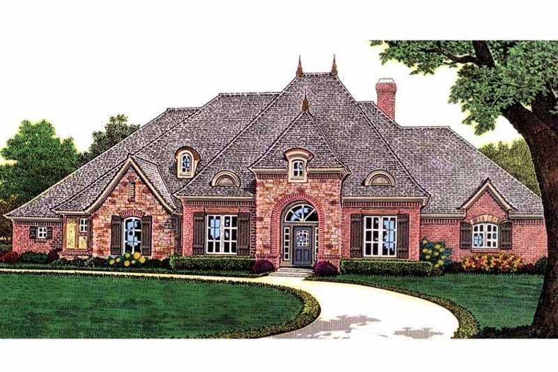Traditional Exterior - Front Elevation Plan #310-1233 - Houseplans.com