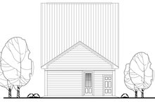 Cottage Exterior - Rear Elevation Plan #430-115