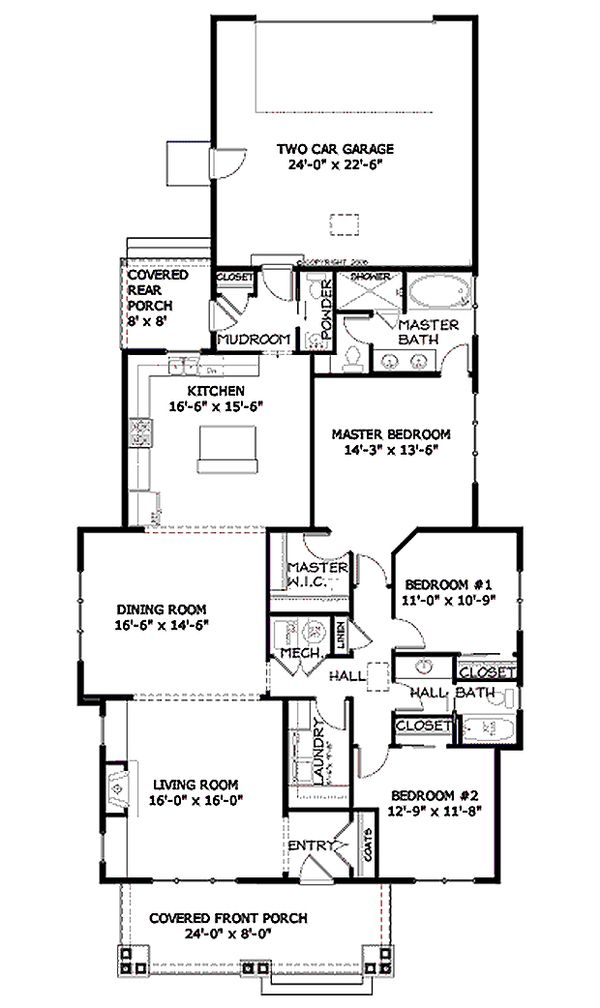 Bungalow style house plans Craftsman design floor plan