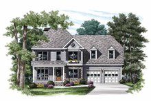 House Design - Colonial Exterior - Front Elevation Plan #927-715