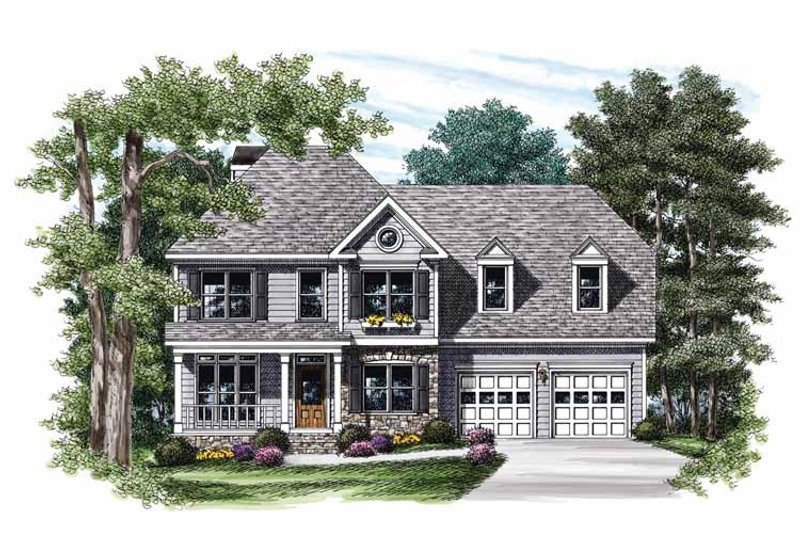 Colonial Exterior - Front Elevation Plan #927-715