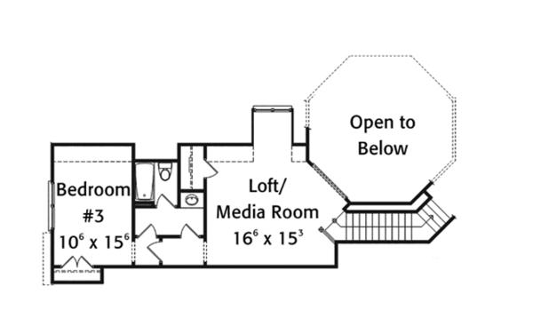 Home Plan - Country Floor Plan - Upper Floor Plan #429-368