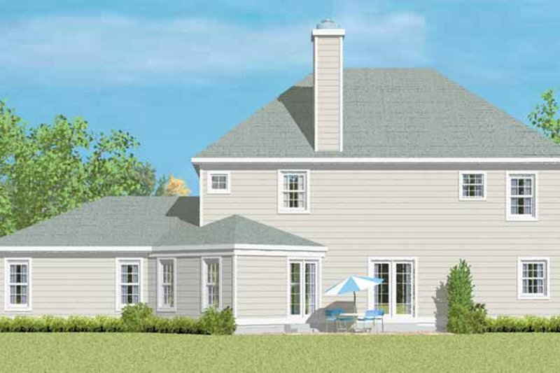 Country Exterior - Rear Elevation Plan #72-1092 - Houseplans.com