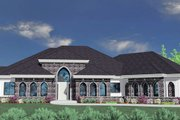European Style House Plan - 3 Beds 3 Baths 5112 Sq/Ft Plan #509-26 Exterior - Front Elevation