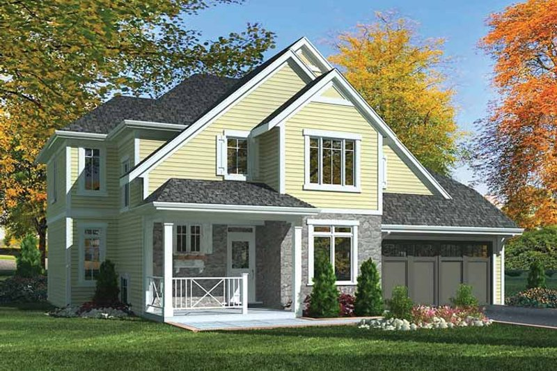House Plan Design - Country Exterior - Front Elevation Plan #46-801