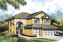 House Plan Design - Mediterranean Exterior - Front Elevation Plan #417-771