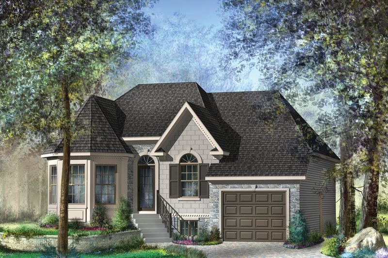 Victorian Style House Plan - 2 Beds 1 Baths 1132 Sq/Ft Plan #25-4532 Exterior - Front Elevation