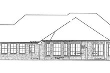 House Plan Design - European Exterior - Rear Elevation Plan #310-1257
