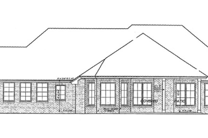 European Exterior - Rear Elevation Plan #310-1257 - Houseplans.com