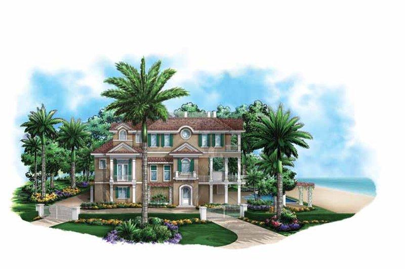 Mediterranean Exterior - Front Elevation Plan #1017-135 - Houseplans.com