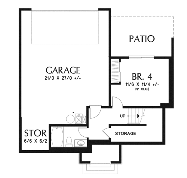 Traditional Floor Plan - Lower Floor Plan Plan #48-910