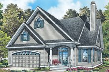 Home Plan - Colonial Exterior - Front Elevation Plan #929-989