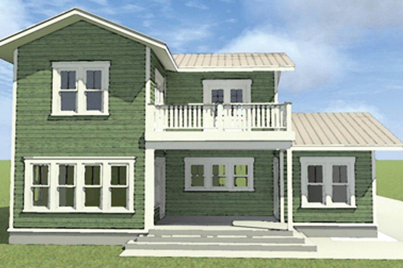 Country Exterior - Rear Elevation Plan #64-289 - Houseplans.com