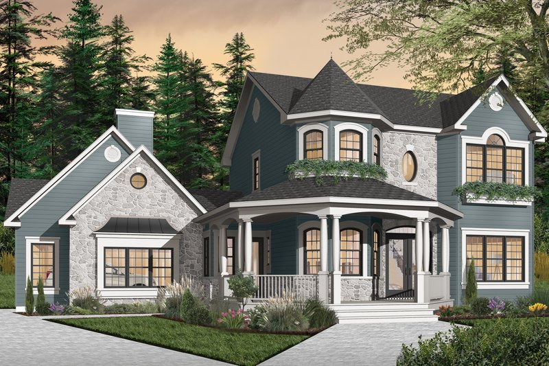 Home Plan - Victorian Exterior - Front Elevation Plan #23-750