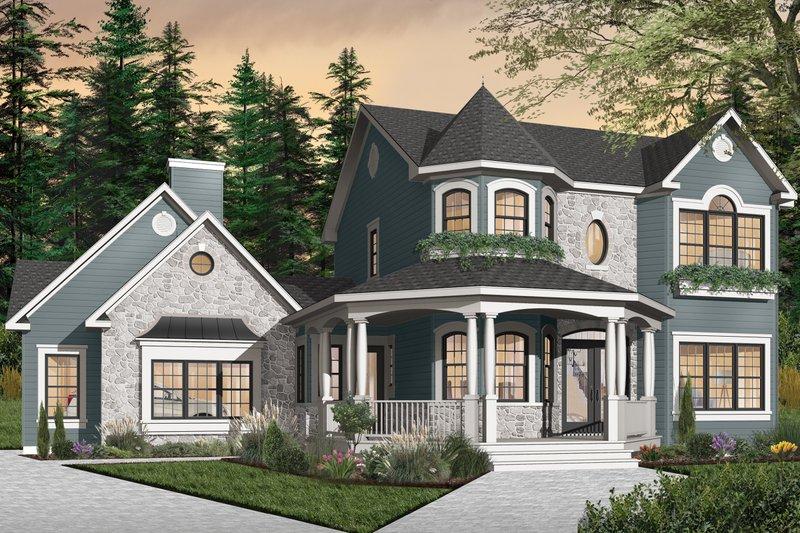 House Plan Design - Victorian Exterior - Front Elevation Plan #23-750