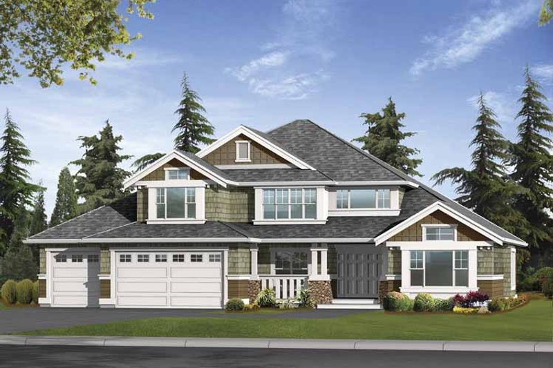 Dream House Plan - Craftsman Exterior - Front Elevation Plan #132-394