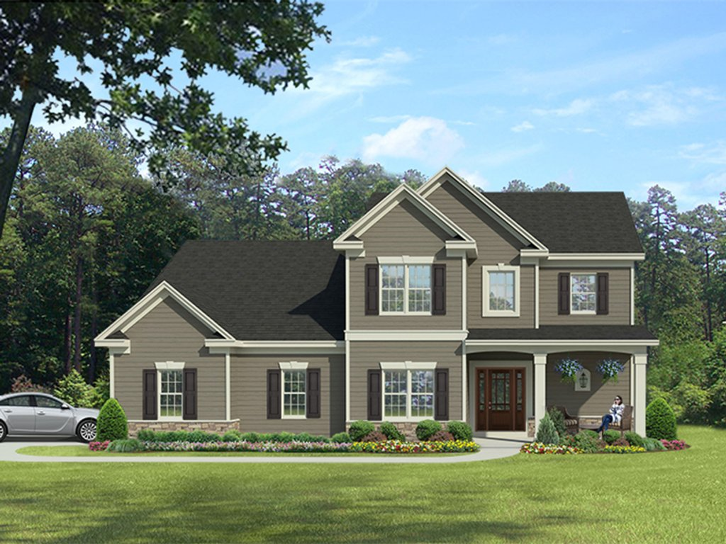 Colonial style house plan 3 beds 2 5 baths 1947 sq ft for Www eplans