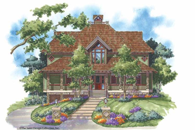 Craftsman Style House Plan - 3 Beds 3.5 Baths 3285 Sq/Ft Plan #930-138 Exterior - Front Elevation