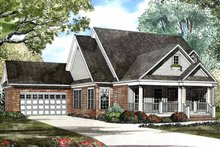 House Plan Design - Country Exterior - Front Elevation Plan #17-2943