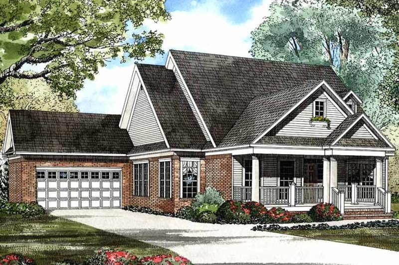 Country Exterior - Front Elevation Plan #17-2943 - Houseplans.com