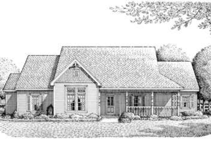 Victorian Exterior - Front Elevation Plan #410-210