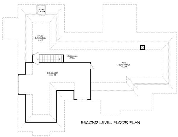 Country Floor Plan - Upper Floor Plan #932-64