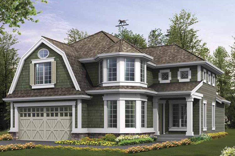 Craftsman Exterior - Front Elevation Plan #132-371 - Houseplans.com