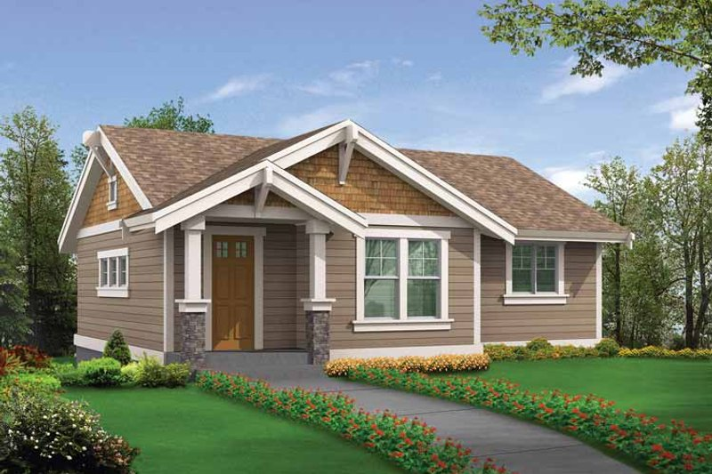 Architectural House Design - Craftsman Exterior - Front Elevation Plan #132-525