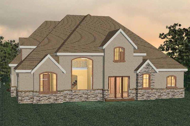 Country Exterior - Rear Elevation Plan #937-10 - Houseplans.com