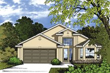 House Plan Design - Mediterranean Exterior - Front Elevation Plan #417-837