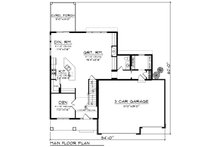 Craftsman Floor Plan - Main Floor Plan Plan #70-1250