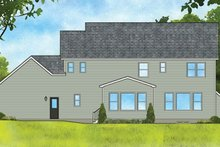 Colonial Exterior - Rear Elevation Plan #1010-196