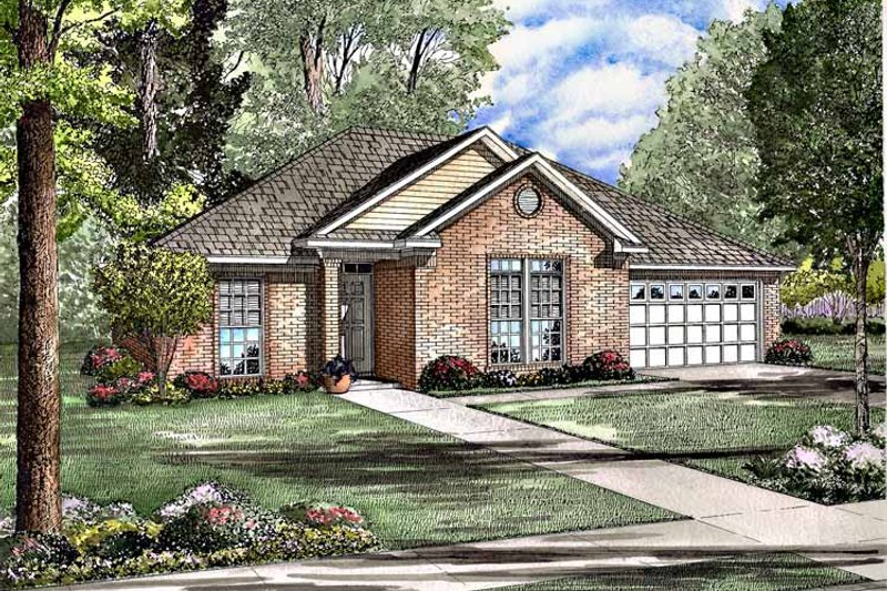 Ranch Exterior - Front Elevation Plan #17-2978