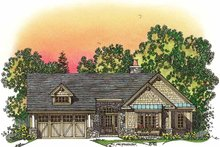 Craftsman Exterior - Front Elevation Plan #1016-75