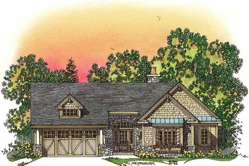House Plan Design - Craftsman Exterior - Front Elevation Plan #1016-75
