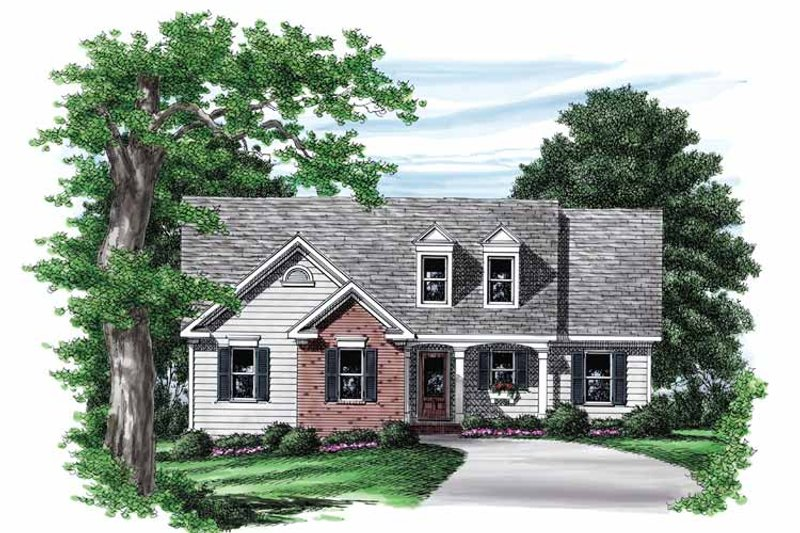 Country Exterior - Front Elevation Plan #927-549