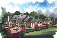 Country Exterior - Front Elevation Plan #119-406