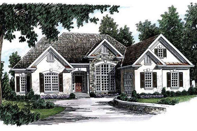 European Exterior - Front Elevation Plan #927-118 - Houseplans.com
