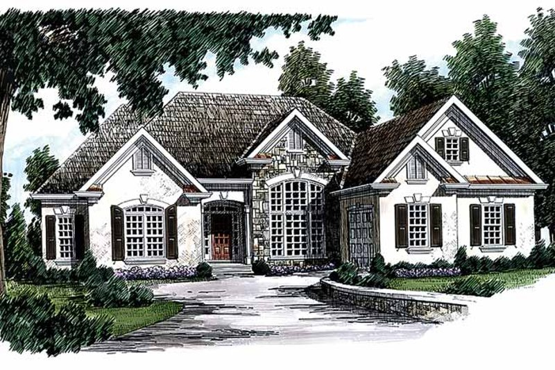 European Exterior - Front Elevation Plan #927-118