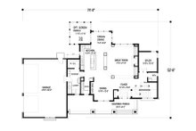 Craftsman style plan 56-597 main floor