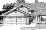 Traditional Style House Plan - 3 Beds 2 Baths 1322 Sq/Ft Plan #47-239 Exterior - Front Elevation