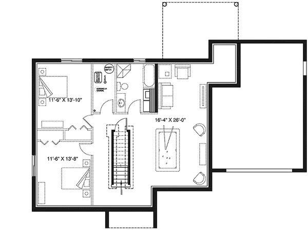 House Plan Design - Unfinished Basement