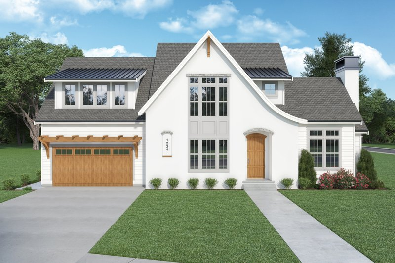 Architectural House Design - European Exterior - Front Elevation Plan #1070-142