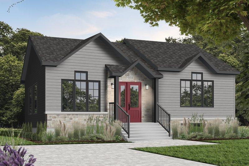 Architectural House Design - Modern Exterior - Front Elevation Plan #23-175