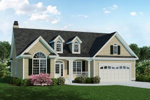 Country Exterior - Front Elevation Plan #929-519