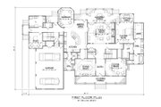Country Style House Plan - 4 Beds 4.5 Baths 5436 Sq/Ft Plan #1054-85