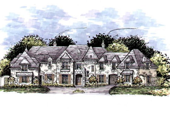 European Exterior - Front Elevation Plan #141-320