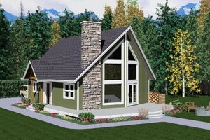 Cabin Exterior - Other Elevation Plan #126-106