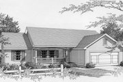 Ranch Style House Plan - 3 Beds 2 Baths 1497 Sq/Ft Plan #112-112 Exterior - Front Elevation